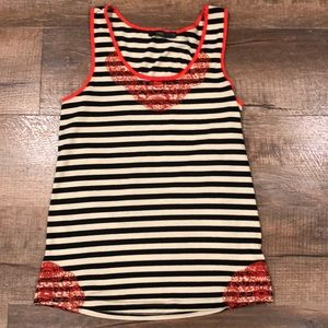 THML tank top with embroidered accents